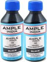 Ample India 100ML Compatible For Epson L100,L110,L200,L210,L300,L350,L355,L550,L555 Black Ink (Black)