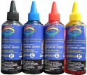 GoColor Canon Premium Quality Inkjet 100 Ml X 4 Colours (Dye Ink) Cyan Ink - Cyan, Magenta, Yellow, Black