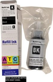 Anjani Toners Cartridges Epson L100/L200/L210/L300/L350/L355/L455/L550/L555 Black Ink (Black)