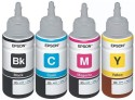 EPSON For L100/L200/L210/L220/L300/L350/L500 Black, Cyan, Megenta, Yellow Ink (Black, Cyan, Megenta, Yellow)