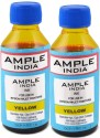 Ample India 100ml Compatible For Epson L100,L110,L200,L210,L300,L350,L355,L550,L555 Yellow Ink (Yellow)