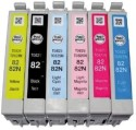 Epson 82N Original Cartridge Set 6 Colour Black, Cyan, Magnta, Yellow, Light Cyan, Light Magenta Ink (Black, Cyan, Magnta, Yellow, Light Cyan, Light Magenta)