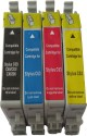 Max T0461 T0472 T0473 T0474 Compatible Cartridge For Epson Printer Prefilled Black, Cyan, Magenta, Yellow Ink (Black, Cyan, Magenta, Yellow)