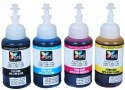 GPS Compatible Refill Ink Bottel For Epson L100,L110,L200,L210,L300,L350,L355,L550,L555 Ink Bottles Set Of 4 Multicolour Ink (Cyan, Magenta, Yellow, Black)