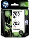 HP 703 Combo Multicolour Ink - Multicolour