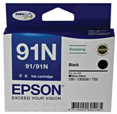 Buy Epson 91N Black Ink cartridge C13T107190: Inks & Toners