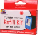 Turbo Ink Refill Kit For HP 803 Color Cartridge Tri Color Ink (multi Color)