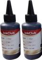 Inkclub 100ml*2 Compatible Epson Ink For L100,L110,L200,L210,L300,L350,L355,L550,L555(black) Black Ink (Black)