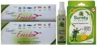 Surety For Safety Freedom Pack Of2 + Herbal Anti Mosquito Spray + Mosquito Repellent 12Patch (Pack Of 4)