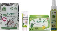 Surety For Safety MosQshield Cream + After Bite Spray + Anti Mosquito Spray + Herbal Anti Mosquito Bracelet Pink (Pack Of 4)