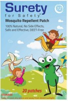 Surety For Safety Herbal Mosquito Repellent Patches 20 (Pack Of )