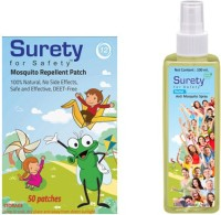 Surety For Safety Herbal Mosquito Patch 50 & Herbal Anti Mosquito Spray 100 Ml (Pack Of )