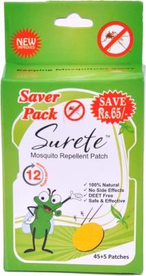 Surete Herbal Mosquito Repellent Patch - Pack Of 1, 50 Pcs