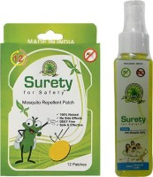 Surety For Safety Mosquito Repellent 12 Patch + Anti Mosquito Spray (Pack Of 2)