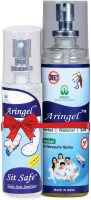 Aringel Anti Mosquito Spray & Sit Safe Toilet Seat Sanitizer (Pack Of 100)
