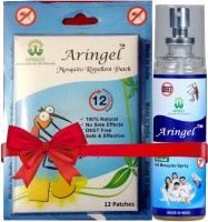 Aringel Herbal Mosquito Repellent Patch 1st Genration 12 Pcs Patch & Herbal Spray (Pack Of 12)