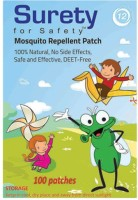 Surety For Safety Herbal Mosquito Repellent Patches 100 (Pack Of )