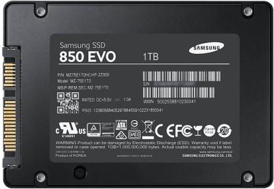 Samsung 850 Evo (MZ-75E1T0) 1000GB Internal SSD