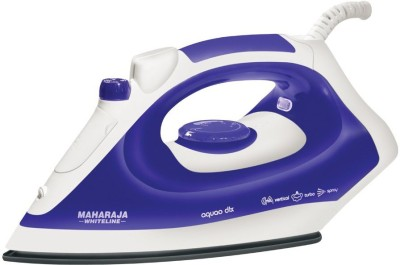 Maharaja Whiteline AQUAO DELUXE Steam Iron (White, Blue)