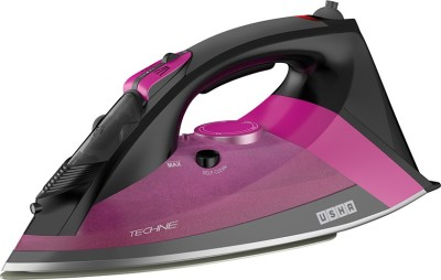 Usha Techne Pro 1500 Steam Iron (Black, Purple)