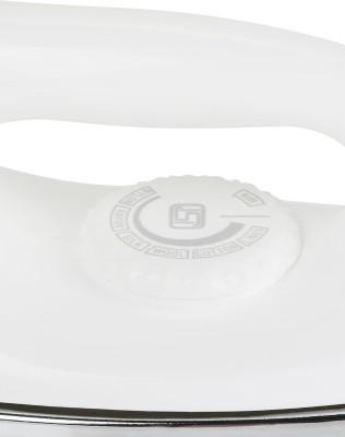 Heatron Milton Long Cord Dry Iron (White, Silver)
