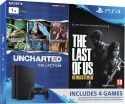 Sony PlayStation 4 (PS4) Slim 1 TB with The Last of Us and Uncharted Collection: Gaming Console