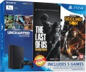 Sony PlayStation 4 (PS4) Slim 1 TB with Uncharted Collection, The Last of US Remastered and Infamous Second Son: Gaming Console