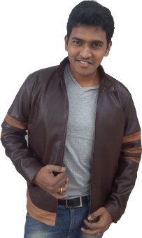 Tab Fashion Winter Full Sleeve Solid Men's Leather Jacket