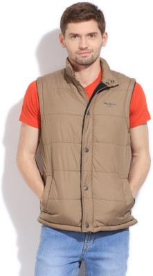 Pepe Pepe Sleeveless Solid Men's Jacket (Beige\/Sand\/Tan)