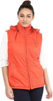 Okane Fashionable Sleeveless Self Design Women's Quilted Jacket - JCKE3BS4QBPUZZZN
