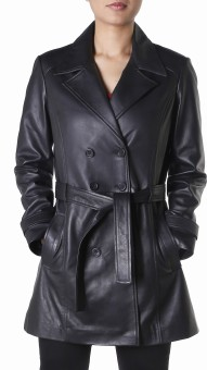 Theo&Ash Gorai Full Sleeve Solid Women's Trench Coat Jacket