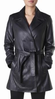 Theo&Ash Gorai Full Sleeve Solid Women's Trench Coat Jacket