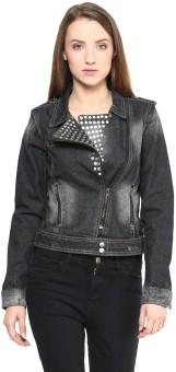 Sf Jeans By Pantaloons Full Sleeve Woven Women's Denim Jacket Jacket