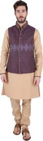 Emuze Sleeveless Embellished Men's Nehru Jacket Jacket