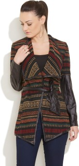Ironi Full Sleeve Printed Women's Cosy Warm Jacket Jacket