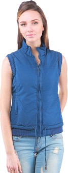 Zupe Tafeta Sleeveless Self Design Women's Quilted Jacket