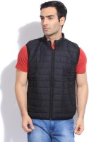 Flying Machine Sleeveless Solid Men's Jacket