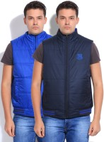 Parx Sleeveless Solid Reversible Men's Reversible Jacket