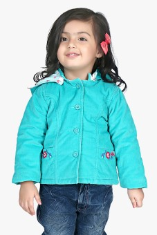 Beebay Full Sleeve Solid Girl's Quilted Jacket