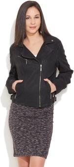 Carapace Full Sleeve Solid Women's Biker Jacket Jacket