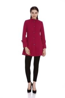 Fusion Beats Full Sleeve Solid Women's Long Jacket Jacket