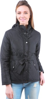 Zupe Hooded Full Sleeve Self Design Women's Quilted Jacket - JCKE3MQBGQJHGXGU