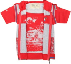 TONYBOY Half Sleeve Printed Boy's Jacket