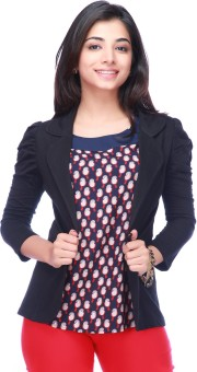 Eliza Donatein By Shoppers Stop 3/4 Sleeve Solid Women's Non-Quilted Jacket