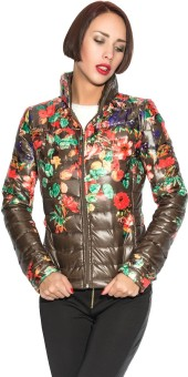Ironi Full Sleeve Printed Women's Quilted Jacket