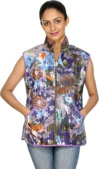 Rajrang Sleeveless Self Design Women's Quilted Jacket