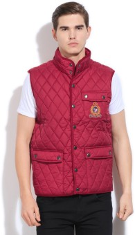 U.S.Polo.Assn Sleeveless Solid Men's Quilted Jacket
