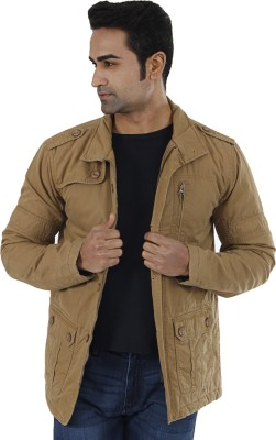 Wrangler Wrangler Full Sleeve Solid Men's Jacket (Brown)