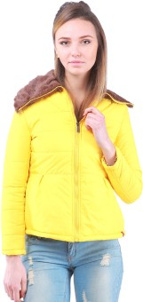 Zupe Collarfur Full Sleeve Self Design Women's Quilted Jacket