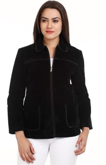Mustard Black Zipped Full Sleeve Solid Women's Quilted Jacket